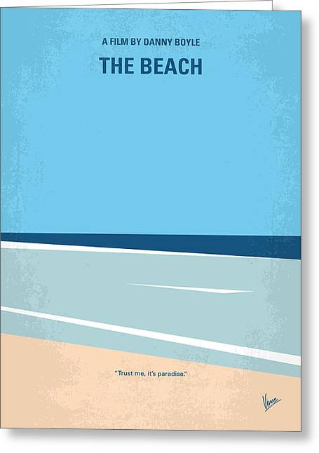 No569 My The Beach Minimal Movie Poster Greeting Card by Chungkong Art