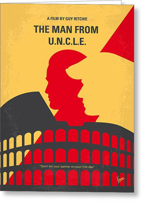 Thrush Greeting Cards - No572 My Man from UNCLE minimal movie poster Greeting Card by Chungkong Art