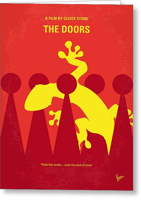 No573 My The Doors Minimal Movie Poster Greeting Card by Chungkong Art
