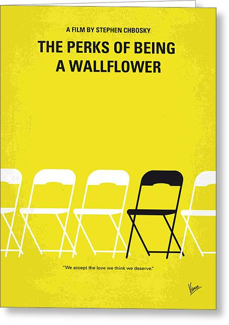 No575 My Perks Of Being A Wallflower Minimal Movie Poster Greeting Card by Chungkong Art