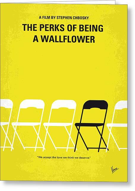 Mental Greeting Cards - No575 My Perks of Being a Wallflower minimal movie poster Greeting Card by Chungkong Art