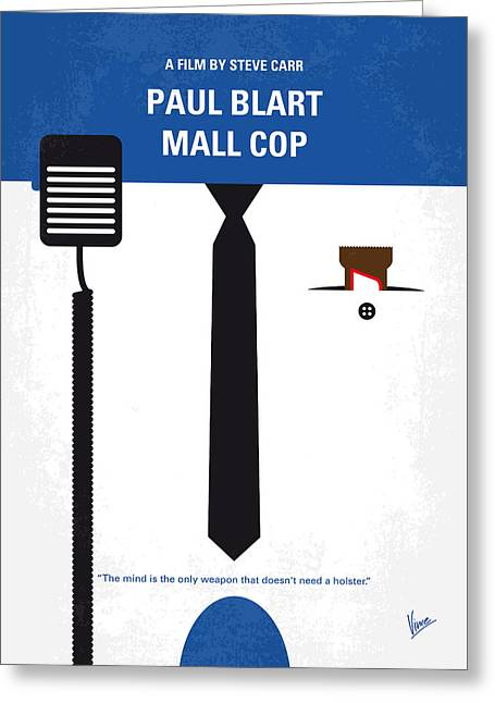 No579 My Paul Blart Mall Cop Minimal Movie Poster Greeting Card by Chungkong Art