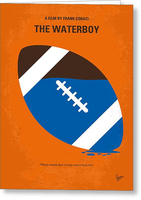 No580 My The Waterboy Minimal Movie Poster Greeting Card by Chungkong Art