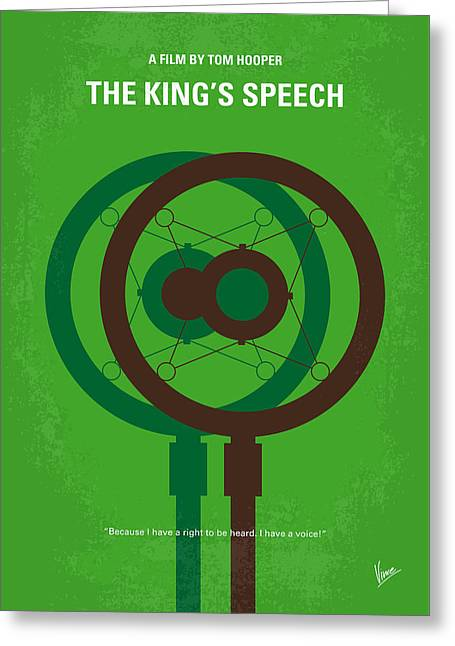 No587 My The Kings Speech Minimal Movie Poster Greeting Card by Chungkong Art