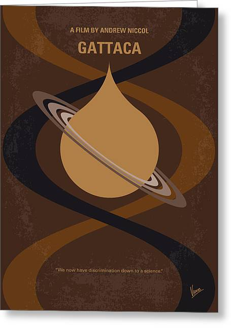 No588 My Gattaca Minimal Movie Poster Greeting Card by Chungkong Art