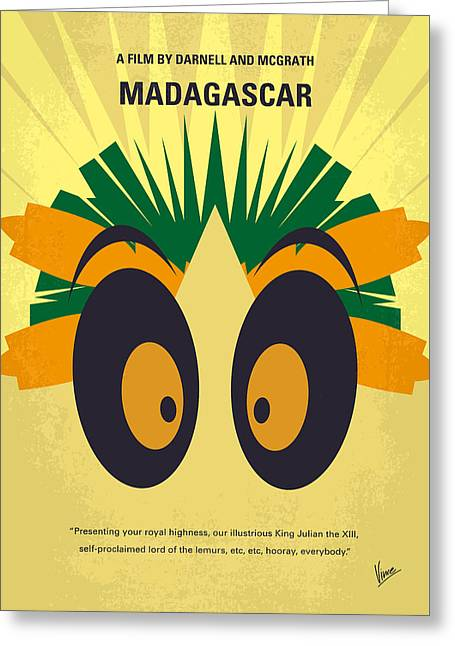 No589 My Madagascar Minimal Movie Poster Greeting Card by Chungkong Art