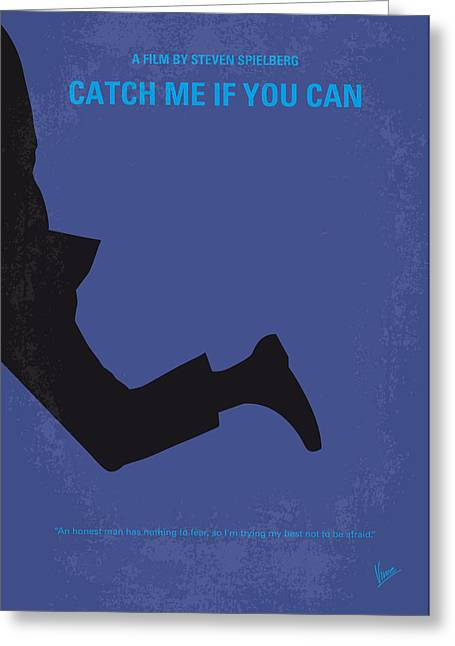 No592 My Catch Me If You Can Minimal Movie Poster Greeting Card by Chungkong Art