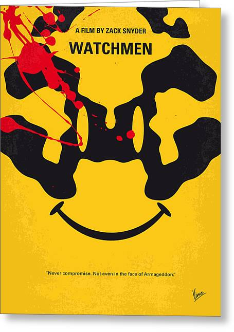 Comedian Greeting Cards - No599 My watchmen minimal movie poster Greeting Card by Chungkong Art