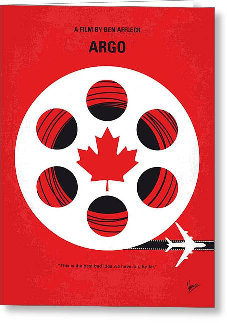 No606 My Argo Minimal Movie Poster Greeting Card by Chungkong Art
