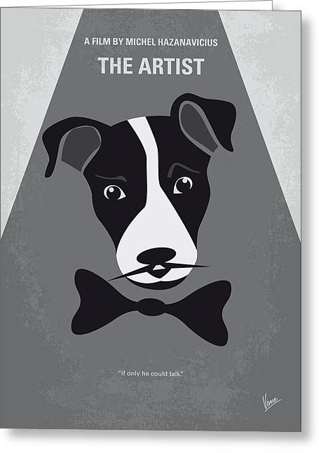No609 My The Artist Minimal Movie Poster Greeting Card by Chungkong Art