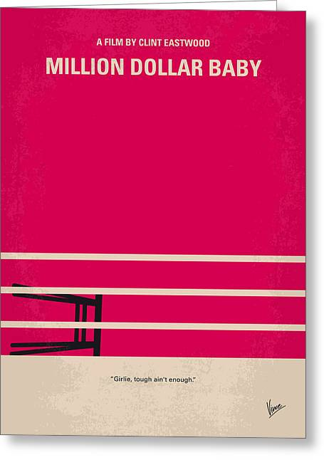No613 My Million Dollar Baby Minimal Movie Poster Greeting Card by Chungkong Art