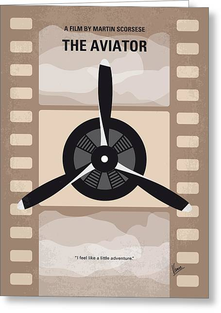 No618 My The Aviator Minimal Movie Poster Greeting Card by Chungkong Art
