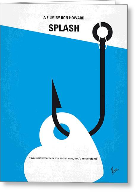 No625 My Splash Minimal Movie Poster Greeting Card by Chungkong Art