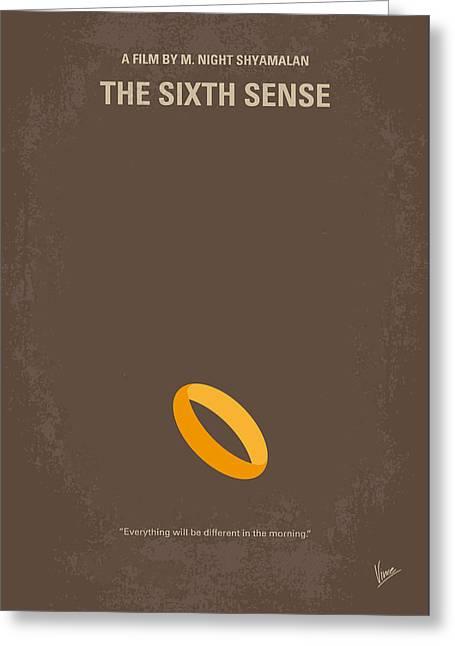 No638 My The Sixth Sense Minimal Movie Poster Greeting Card by Chungkong Art
