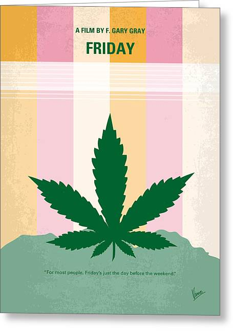 No634 My Friday Minimal Movie Poster Greeting Card by Chungkong Art