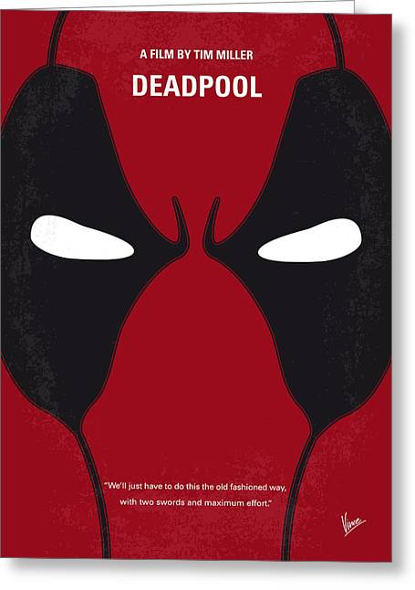 No639 My Deadpool Minimal Movie Poster Greeting Card by Chungkong Art