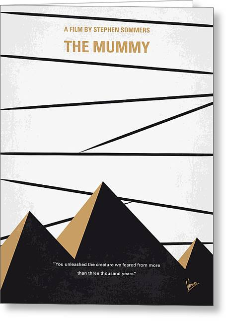 No642 My The Mummy Minimal Movie Poster Greeting Card by Chungkong Art