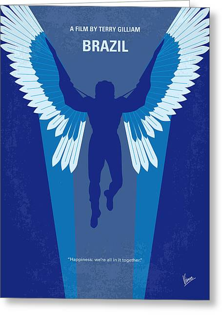 No643 My Brazil Minimal Movie Poster Greeting Card by Chungkong Art