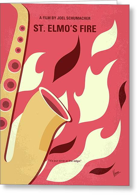 No657 My St Elmos Fire Minimal Movie Poster Greeting Card by Chungkong Art