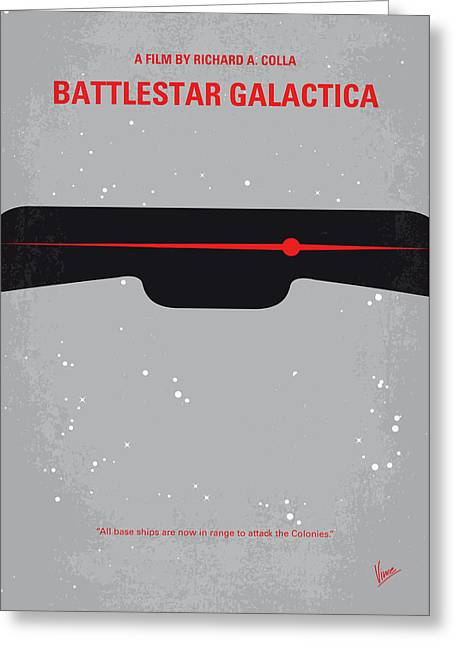 No663 My Battlestar Galactica Minimal Movie Poster Greeting Card by Chungkong Art