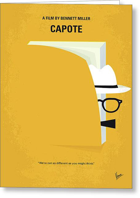 No671 My Capote Minimal Movie Poster Greeting Card by Chungkong Art