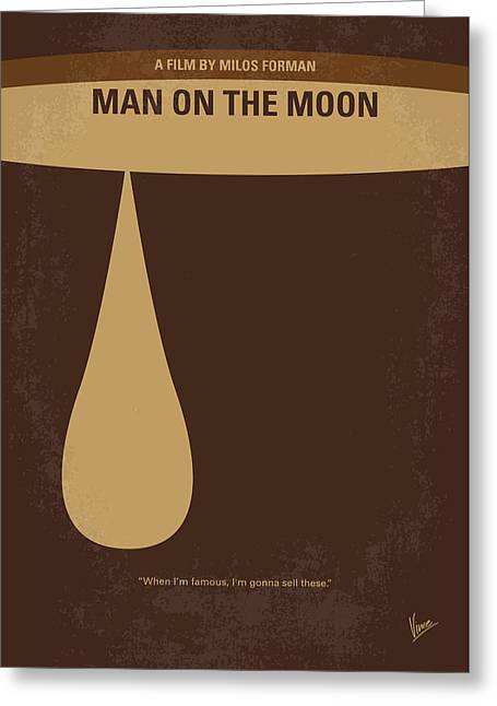 No675 My Man On The Moon Minimal Movie Poster Greeting Card by Chungkong Art