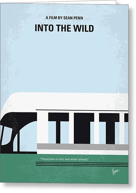 No677 My Into The Wild Minimal Movie Poster Greeting Card by Chungkong Art