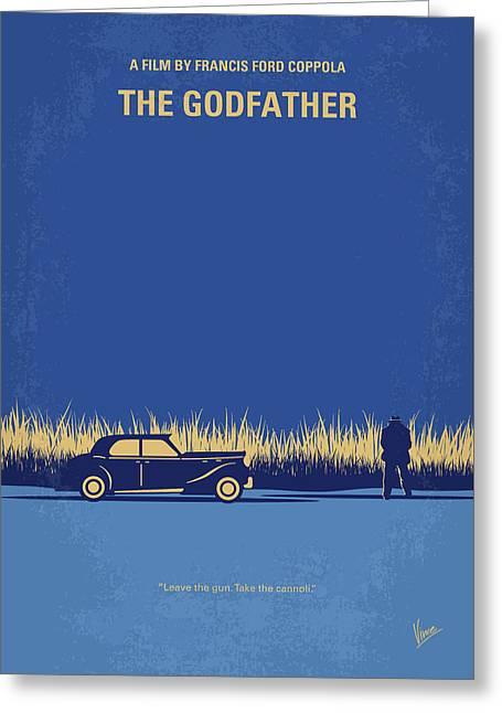 No686-1 My Godfather I Minimal Movie Poster Greeting Card by Chungkong Art