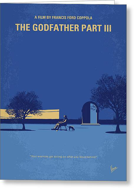 No686-3 My Godfather IIi Minimal Movie Poster Greeting Card by Chungkong Art