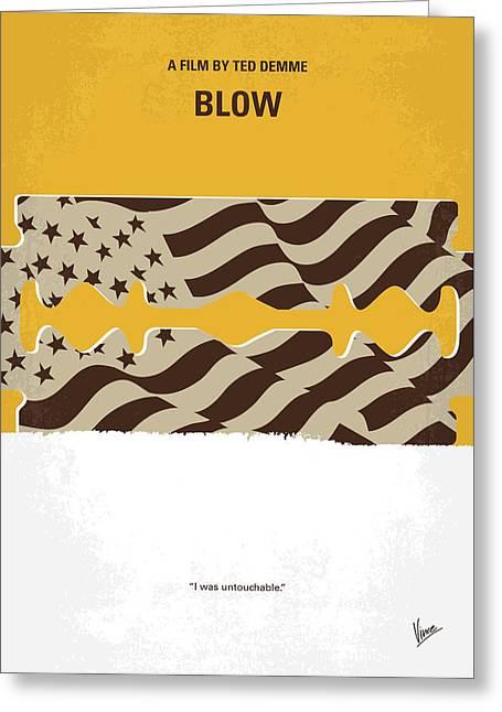 No693 My Blow Minimal Movie Poster Greeting Card by Chungkong Art