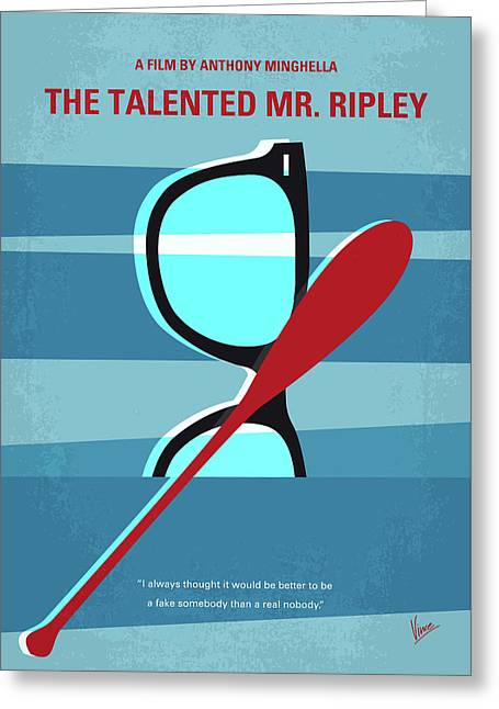 No694 My The Talented Mr Ripley Minimal Movie Poster Greeting Card by Chungkong Art