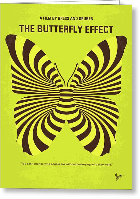 No697 My The Butterfly Effect Minimal Movie Poster Greeting Card by Chungkong Art