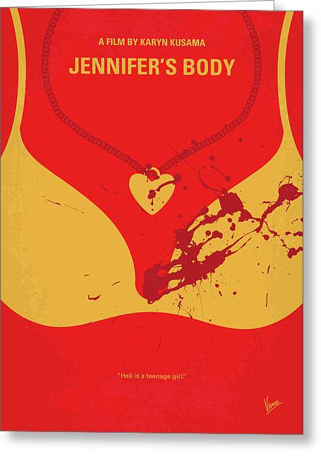 No698 My Jennifers Body Minimal Movie Poster Greeting Card by Chungkong Art