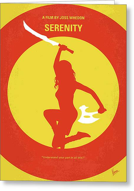 No722 My Serenity Minimal Movie Poster Greeting Card by Chungkong Art