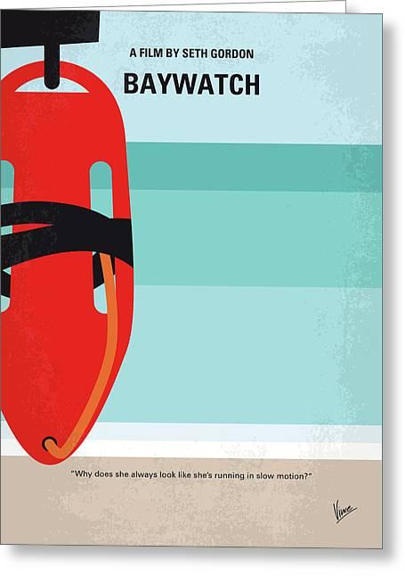 No730 My Baywatch Minimal Movie Poster Greeting Card by Chungkong Art