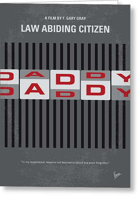 No738 My Law Abiding Citizen Minimal Movie Poster Greeting Card by Chungkong Art
