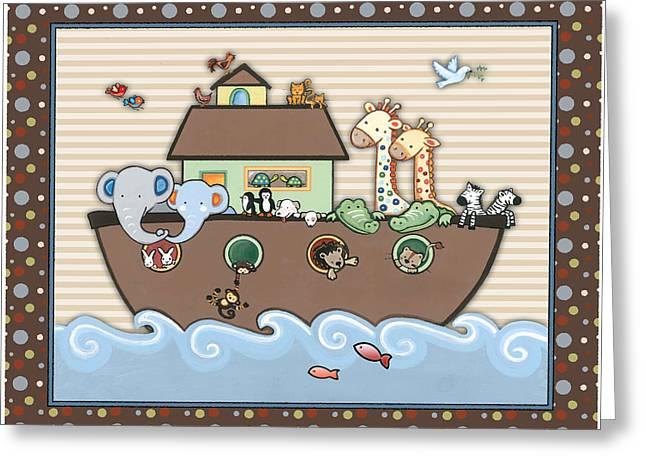 Noah's Ark Greeting Card by Cheryl Marie