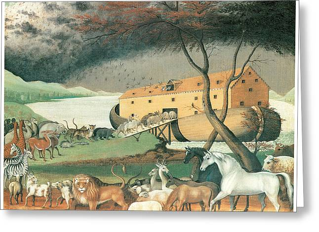 American Story Art Greeting Cards - Noahs Ark Greeting Card by Edward Hicks