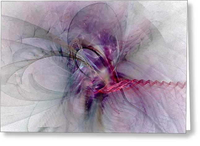 Strength Spiritual Greeting Cards - Nobility Of Spirit - Fractal Art Greeting Card by NirvanaBlues