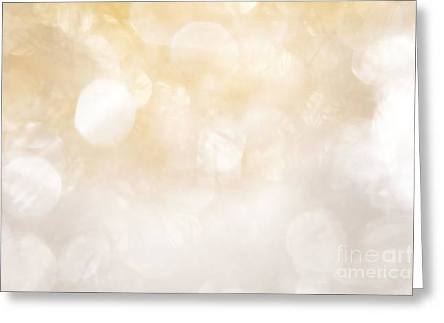 Twinkle Greeting Cards - Noble Bokeh of Silver and Gold Greeting Card by Wolfgang Steiner