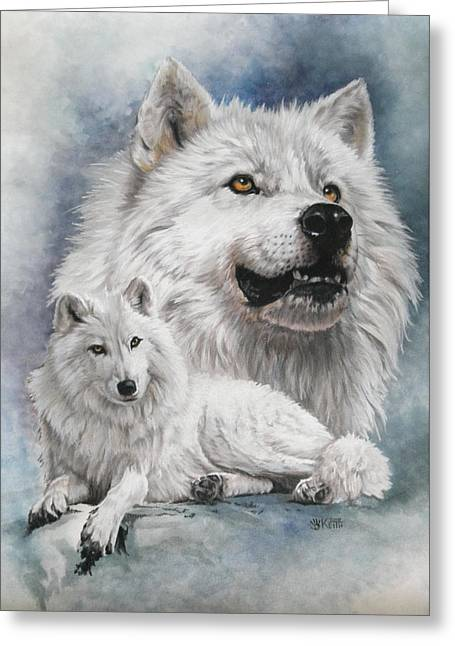 Noble Intensity Greeting Card by Barbara Keith