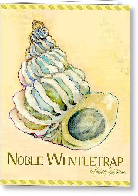 Labelled Greeting Cards - Noble Wentletrap Greeting Card by Kimberly McSparran