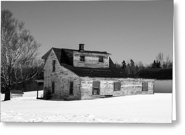 Old Maine Houses Greeting Cards - Nobody is Home Greeting Card by William Tasker