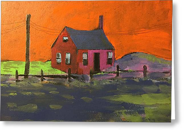 Old Home Place Paintings Greeting Cards - Nobody Lives Here Anymore Greeting Card by Ken  Blacktop  Gentle