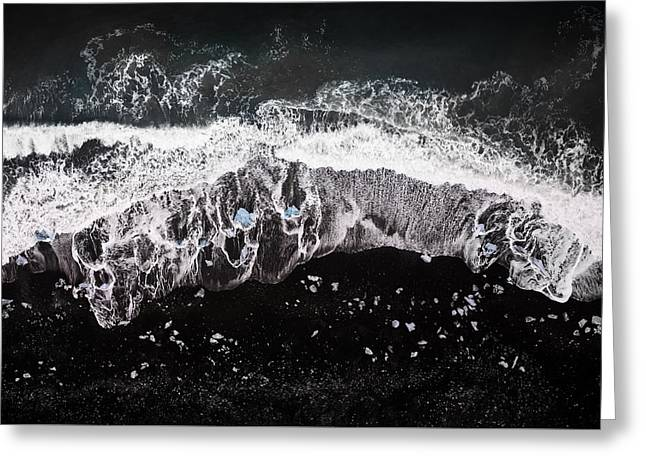 Abstract Beach Landscape Greeting Cards - Noct Greeting Card by Spencer Cox