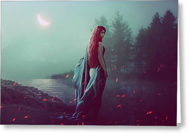 Nocturne Greeting Card by Orina Kafe