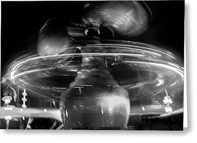 Black Top Greeting Cards - Noir Warp Greeting Card by Denise Dube