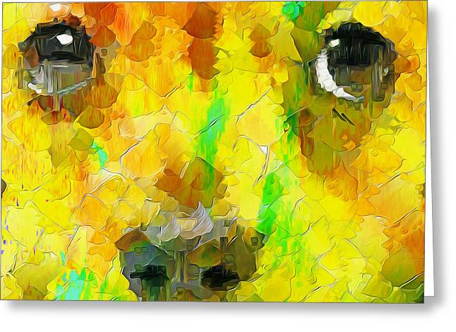 Noise And Eyes In The Colors Greeting Card by Stefano Senise