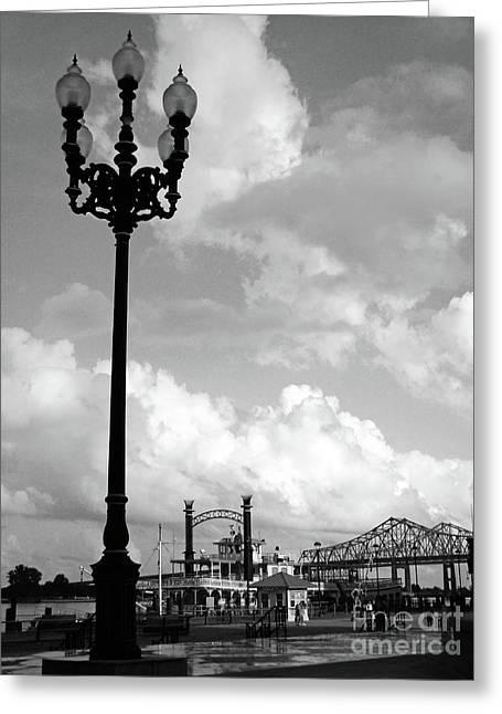 Mississippi Photographs Greeting Cards - NOLA Riverwalk Greeting Card by Joy Tudor