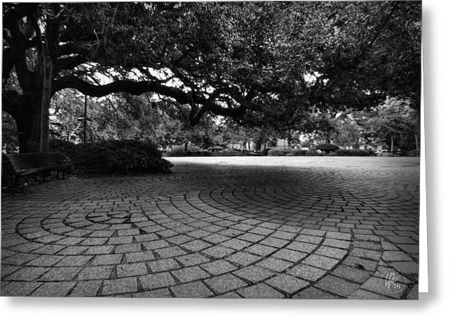 African-americans Greeting Cards - NOLA - Treme - Congo Square 001 BW Greeting Card by Lance Vaughn